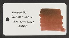Noodler's Black Swan in English Roses - Word Card