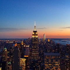 NYC sunshine... #empirestate #sunshine #nyc #newyork #city #usa #topoftherock #view #nice #night #incredible