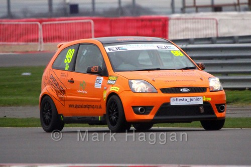 Alex Tait in the BRSCC Fiesta Junior Championship at Silverstone, April 2015