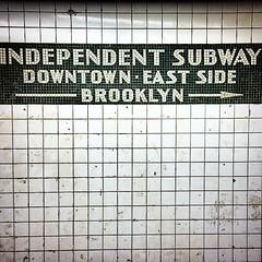 Independent subway #nyc #newyork #metro #subway #usa #nofilters