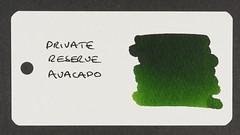 Private Reserve Avacado - Word Card