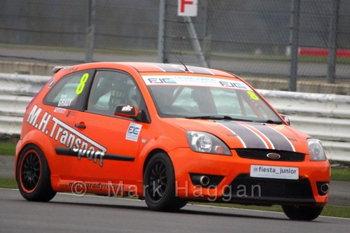 Connor Grady in the BRSCC Fiesta Junior Championship at Silverstone, April 2015