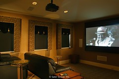 Custom Luxury Home - theater room