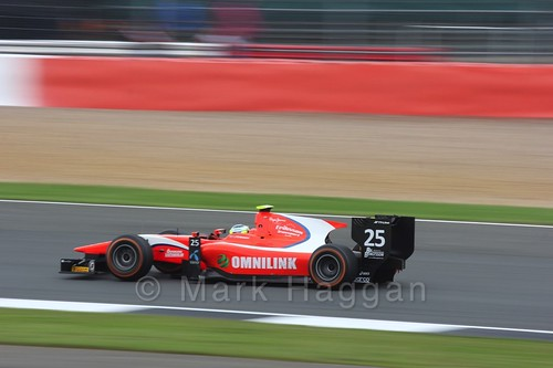 Jimmy Ericsson in the Arden International car in the GP2 Feature Race at the 2016 British Grand Prix