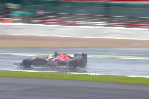 Carlos Sainz Jr Racing for Toro Rosso during The 2016 British Grand Prix