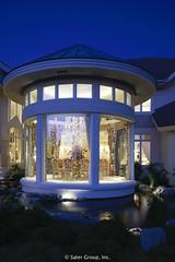 Custom Luxury Home Rear Dusk