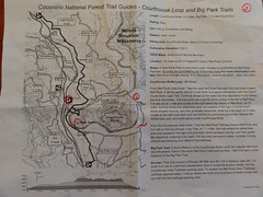 Courthouse Butte and Bell Rock trail map