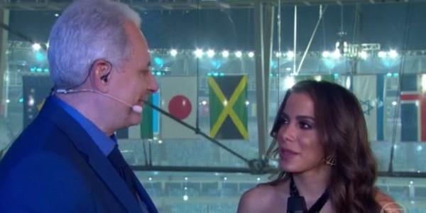 Internautas reclamam de postura de William Waack em entrevista com Anitta