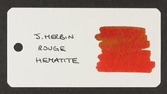 J. Herbin Rouge Hematite - Word Card