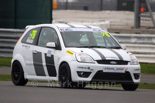 Carlito Miracco in BRSCC Fiesta Junior Championship at Silverstone, April 2015