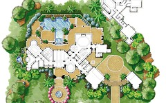 Custom Luxury Home -  Site Plan