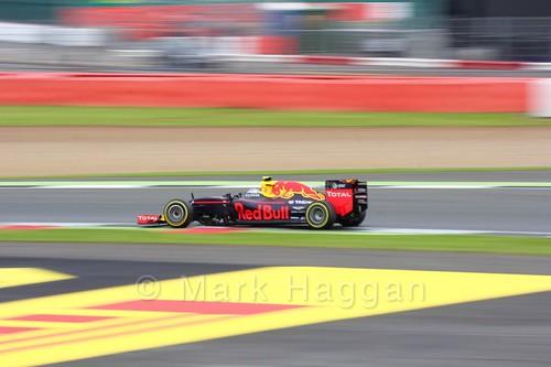 Daniel Ricciardo in his Red Bull during qualifying for the 2016 British Grand Prix