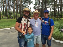 Somotov, Somotova, Moss and Tkachenko at Chaiky sports camp