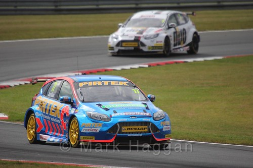 Andrew Jordan in Touring Car action during the BTCC 2016 Weekend at Snetterton