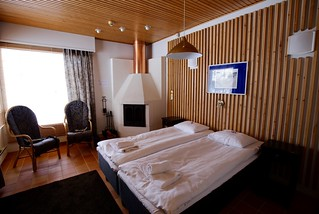 Our bedroom - with real log fire