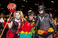 "Harley Robin and Batman #cosplay #C2E2 2015 • <a style=""font-size:0.8em;"" href=""http://www.flickr.com/photos/33121778@N02/16661233944/"" target=""_blank"">View on Flickr</a>"