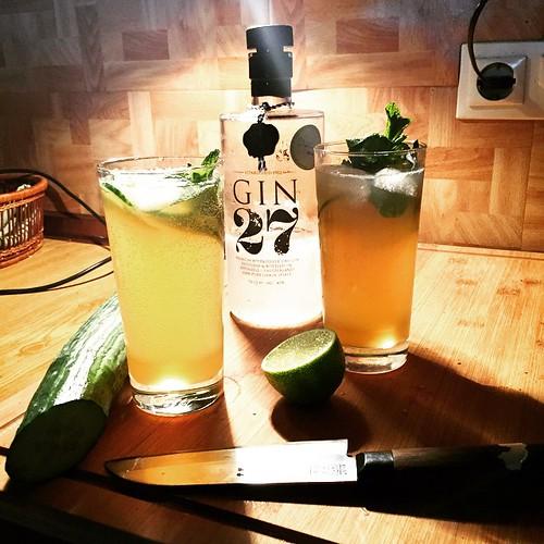 #LondonLeaves II #Gin #cuke #lime #mint #applejuice #soda
