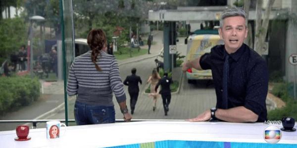 Ex-BBB Ana Paula Renault é flagrada correndo atrás de ônibus no Projac