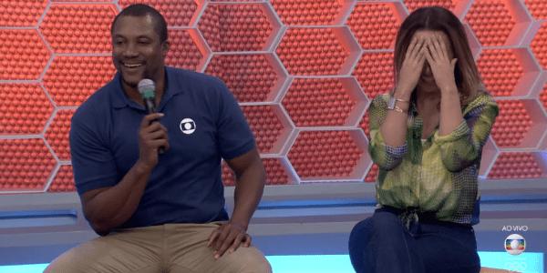 """Comentarista da Globo """"canta"""" atriz: """"Não sou Bolt, mas dou umas corridas"""""""