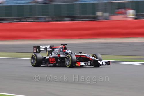 Gustav Malja in the Rapax car in GP2 Qualifying at the 2016 British Grand Prix
