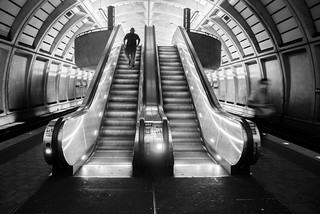 Escalator, Metro. Petworth, Washington, D.C. - 7.13.2016