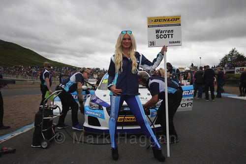 Warren Scott on the grid during the BTCC Knockhill Weekend 2016