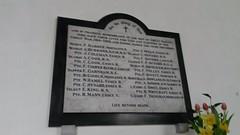 Great Oakley WW1 memorial plaque