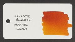 Private Reserve Orange Crush - Word Card