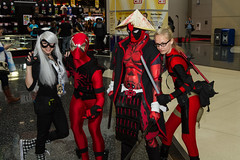 """Deadpools Spidey and Black Cat - C2E2 2015 • <a style=""""font-size:0.8em;"""" href=""""http://www.flickr.com/photos/33121778@N02/17280763031/"""" target=""""_blank"""">View on Flickr</a>"""