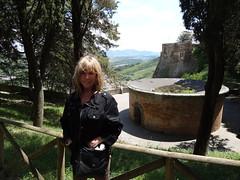 2011 05 17 Rebecca Snyder at San Patrizio well in Orvieto