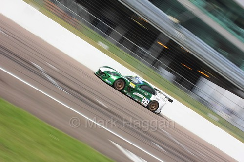 Ben Green in the Ginetta GT4 Supercup at Rockingham, August 2016