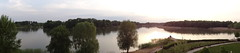 Pano view from our balcony at Tisza Balneum Hotel - I believe we have the BEST room in the place - #205