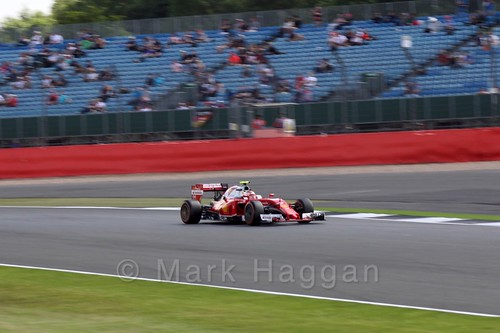Sebastian Vettel in his Ferrari in Free Practice 2 at the 2016 British Grand Prix