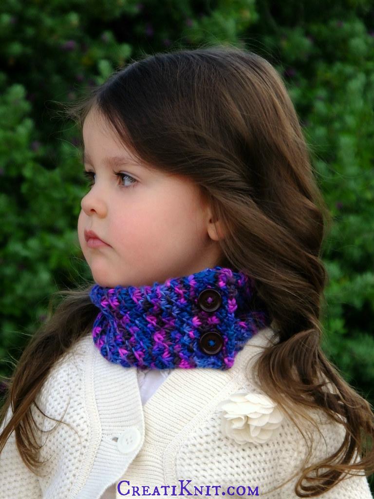 Knit Scarflette Pattern Free