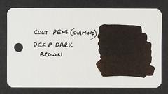 Cult Pens (Diamine) Deep Dark Brown - Word Card