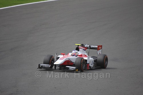 Sergey Sirotkin in the ART GP car in The GP2 Feature Race at the 2016 British Grand Prix