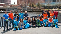 IGT Volunteers Group photo with WaterFire lead Chantal Roche