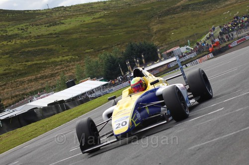 Alexandra Mohnhaupt in the final British Formula Four race during the BTCC Knockhill Weekend 2016