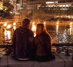 Couple Enjoying the Lighting