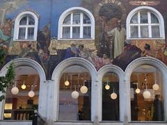 Beautiful mosaics on building on Kamtner Strasse