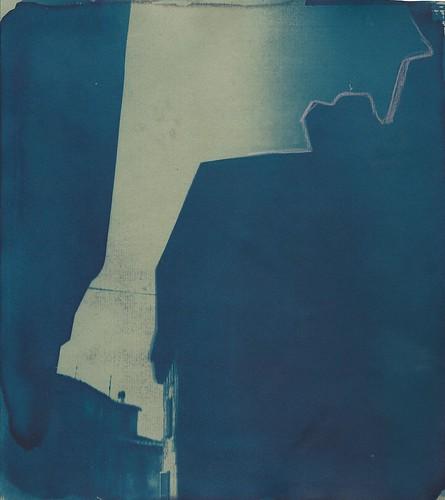 Spolleto, cianotipia e pastello, 2016