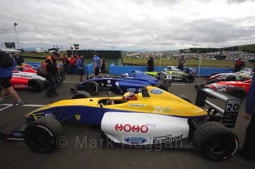 The final British Formula Four race during the BTCC Knockhill Weekend 2016