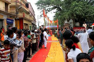 devotee waiting for Sagadi jatra of Lord Jagananth