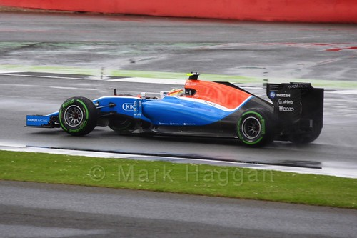Rio Haryanto in the 2016 British Grand Prix