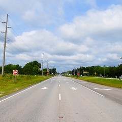 The Road Ahead. Day 51. Rt.17 in Sunset Beach, NC. Cloudy and windy, nice break from yesterday's heat. #TheWorldWalk #travel #nc #wwtheroadahead