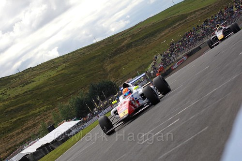 Alex Quinn in the final British Formula Four race during the BTCC Knockhill Weekend 2016