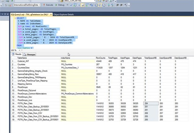 Table size per Database on Microsoft SQL Server