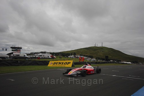 Nicolai Kjærgaard in British Formula Four race 2 during the BTCC Knockhill Weekend 2016