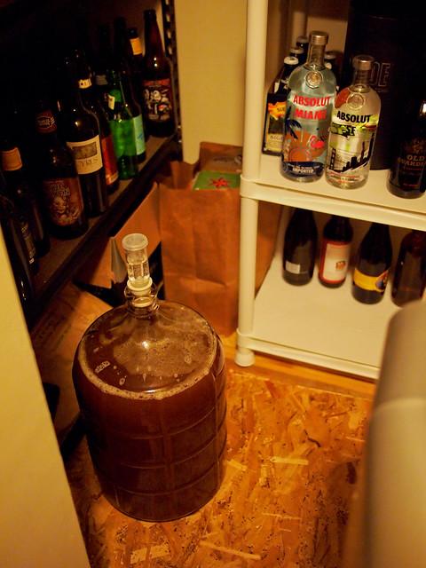 1st HomeBrew - Wort in the Cellar