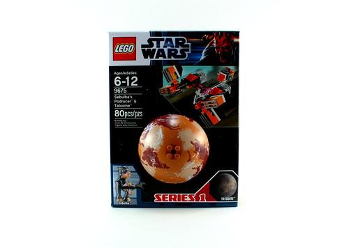 9675 Sebulba's Podracer & Tatooine - Box Front